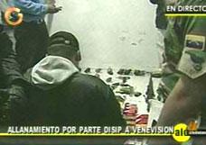 Huiszoeking bij Venevision op vrijdag 11 juni 2004