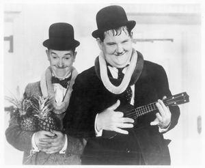 Oliver Hardy en Stan Laurel aka De Dikke en de Dunne
