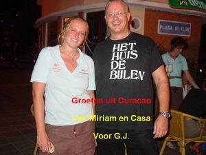 Groeten uit Curacao van Miriam en Casa voor GJ