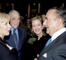 Gustavo Cisneros (rechts) met zijn vrouw Patty