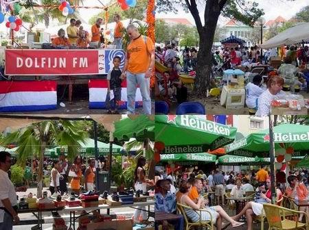 Koninginnedag 2004 te Punda, Curacao