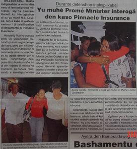 Niraica Louisa, dochter van Minister President Mirna Louisa-Godett. Foto: Vigilante