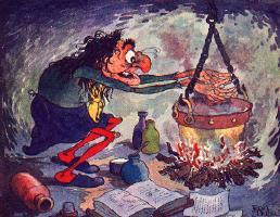 Eucalypta bereidt een soepje en bedenkt hoe ze dat van de belasting af kan trekken