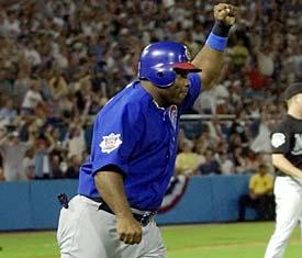 Randall Simon van Curacao scored voor de Chicago Cubs!
