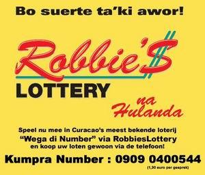 U kunt ook in Nederland meedoen aan Robbie's Lottery!