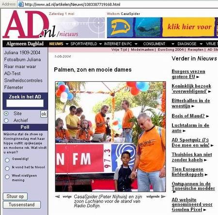 Luchiano & CasaSpider in het Algemeen Dagblad!