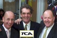 Dick Grijpink, Hans Janmaat en Gerard van Gelderen van taxi-bedrijf ATC. Chauffeurs of bestuurders?