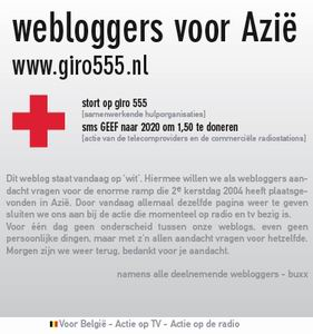 Veel webloggers zetten hun site op 'wit' vandaag!