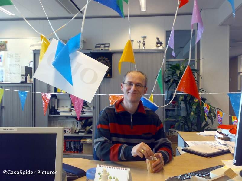 18.04.2008: Ben de Jong van Brabant Water Den Bosch tikt er weer een jaartje bij. Klik voor groter.