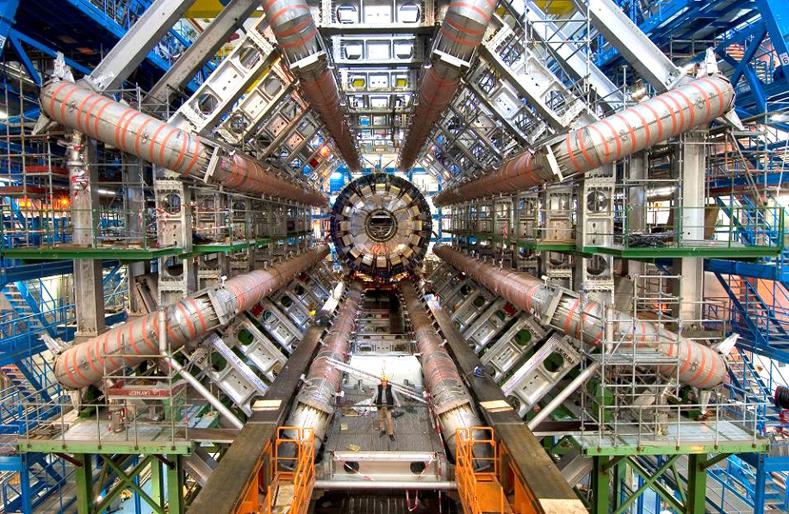 10.09.2008: Large Hadron Collider van het CERN zorgt voor zwarte gaten, everywhere. Klik voor groter.