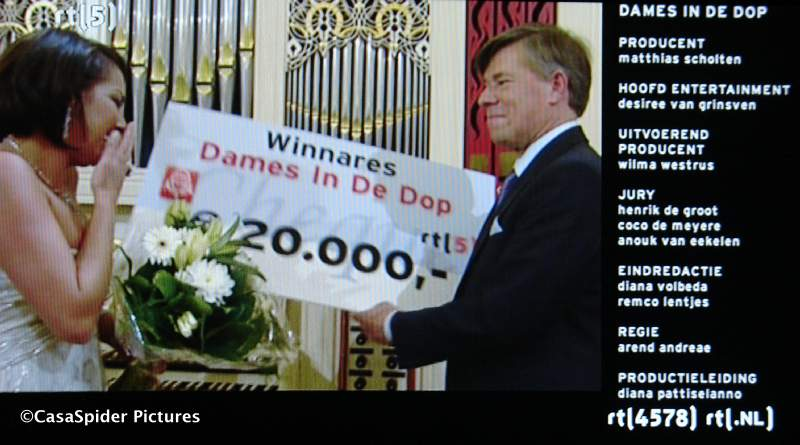 26.05.2008: Arnhemse Michella wint van Nancy in de finale van Dames in de Dop (SBS6). Klik voor groter.