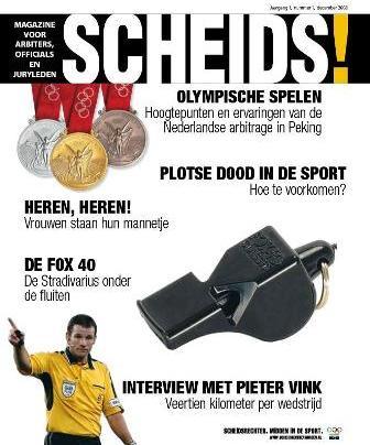 23.12.2008: Het blad SCHEIDS! is best humoristisch, vooral het artikel over de Fox 40. Klik voor groter